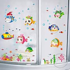 wandaufkleber fisch meer für dusche fliesen