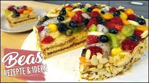 obsttorte rezept für eine sommertraum torte mit früchten marzipan und nougat backen