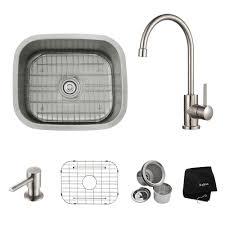 Home Depot Kitchen Sinks Stainless Steel Undermount by Kraus Undermount Stainless Steel 20 In Single Basin Kitchen Sink