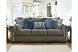 gray sofa with nailhead trim sofas