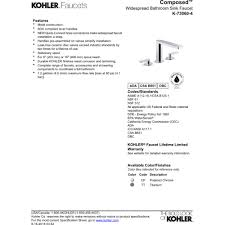 Kohler Bathroom Sink Faucets Widespread by Kohler K 73060 4 Cp Composed Polished Chrome Two Handle Widespread