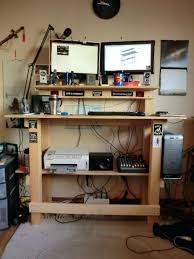 Ikea Computer Desk Hack by Computer Desks Office Standing Desk Adjustable Computer Desks