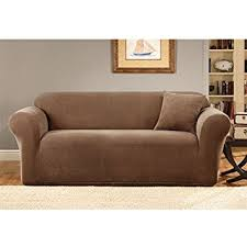 Sure Fit Sofa Slipcovers Amazon by Amazon Com Sure Fit Stretch Metro 1 Piece Sofa Slipcover