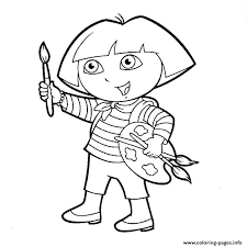 Dora Paint Coloring Pages