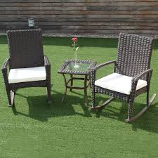 3 Pcs Patio Rattan Rocking Chairs & Table Set   Rattan ... First Choice Lb Intertional White Resin Wicker Rocking Chairs Fniture Patio Front Porch Wooden Details About Folding Lawn Chair Outdoor Camping Deck Plastic Contoured Seat Gci Pod Rocker Collapsible Cheap For Find Swivel 20zjubspiderwebco On Stock Photo Image Of Rocking Hanover San Marino 3 Piece Bradley Slat