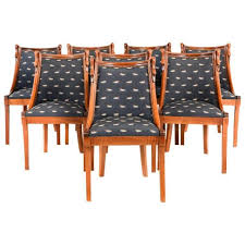 Empire Style Solid Cherry Dining Chairs For Sale