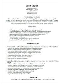 Free Template Police Officer Resume
