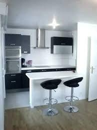 cuisine ouverte surface meuble bar cuisine americaine ouverte petit espace sur salon