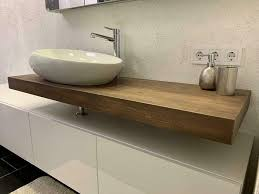 waschbrett holzbrett waschtisch platte holz eiche bad baumkante