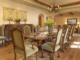 Floral Centerpieces For Dining Room Tables by Rustic Crown Molding Dining Room Mediterranean With Dining Table