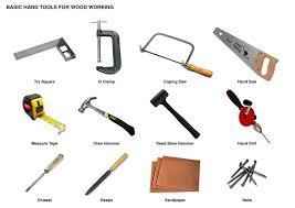 In Color Lumberjack Woodworking Tools Vector Icons Isolated Stock Clipart