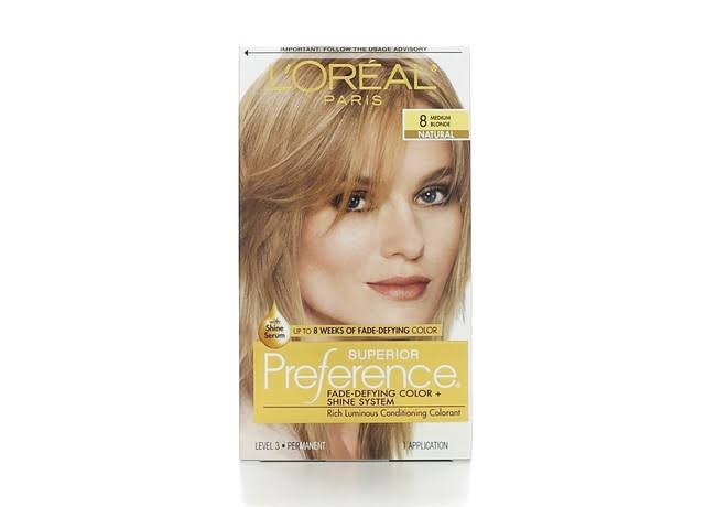 L'Oréal Paris Superior Preference Hair Color - 8 Medium Blonde