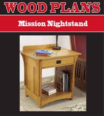 mission furniture plans