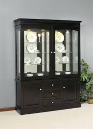 Modern Dining Hutch Room Buffet With Glass Doors Beautiful Addition Of In The K5586
