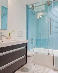 Light Blue Glass Subway Tile Backsplash by Bathroom Glass Tile Backsplash