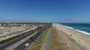 100 Coastal Truck Driving Aerial Footage Of Fire Truck Driving Down PCH Stock Video Footage