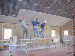 Hanging Drywall On Ceiling Trusses by How To Install Drywall On A Ceiling Integralbook Com
