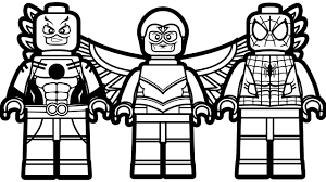 Spiderman Lego Coloring Pages Children For