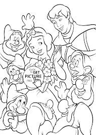 All From Snow White Coloring Pages For Kids Printable Free