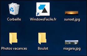 raccourci bureau disparu où sont passées mes icônes sur le bureau windowsfacile fr