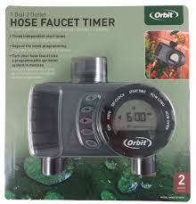 Orbit Hose Faucet Timer Manual by Orbit Two Station Tap Timer Automatic Irrigation Controller 3 Year