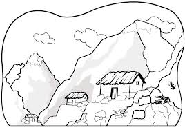 Printable Mountain Coloring Page