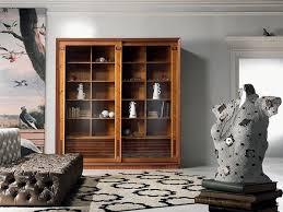 bibliothek vitrine mit einlage schiebetüren für