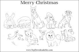 Free Printable Dog Breed Christmas Cards Kids Coloring Pages