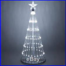 6 FT LED Cool White Animated Christmas Light Show Motion Tree 14 Effects NEW