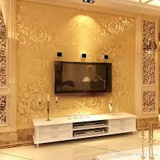 großhandel gold tapeten 3d wandtapeten europäischen acanthus vlies wand papier blume schlafzimmer tapete für wände grau papel de parede para quarto