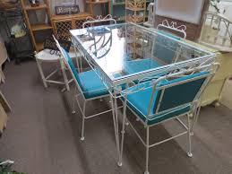Vintage Wrought Iron Patio Furniture Woodard by Vintage Wrought Iron Patio Or Sun Room Table And Chair Set