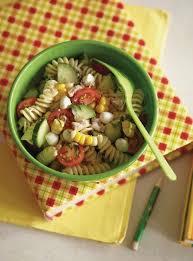 salade de pâtes au thon au maïs et aux tomates cerises ricardo