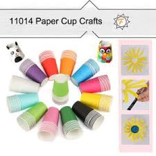 Colored Craft Paper Cups For Arts And Crafts Projects