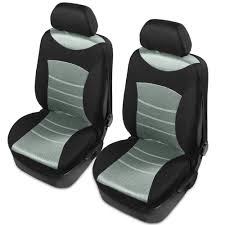 Tirol Car Front Seat Universal Car Seat Covers Front Headrest ...