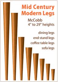 tablelegs com triples output of mid century modern legs