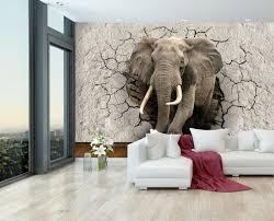 fototapete elefant 3d wanddurchbruch fototapeten tapete wandbild tier mauer bruch m1238