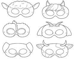 Clown Printable Coloring Masks Mask By HappilyAfterDesigns