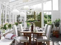 esszimmer wintergarten skandinavisch weißes interieur
