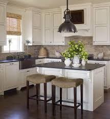 Dark Hardwood Floors With Antique White Cabinets