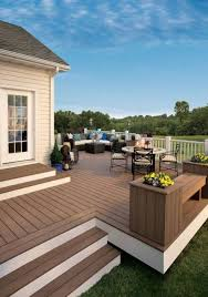 Patio And Deck Combo Ideas by For A Free Standing Deck Consider Painting The Risers A Light