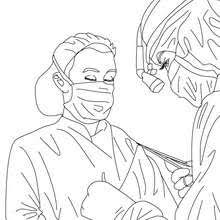 Paediatrician Doctor Coloring Pages
