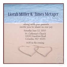Double Heart Beach Wedding Invitations
