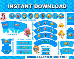 Bubble Guppies Cake Decorating Kit by Etsy Your Place To Buy And Sell All Things Handmade