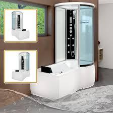 Badewanne Mit Dusche Acquavapore Dtp8055 Ws Duschkabine In 170 X 98cm