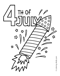 July 4 Rocket Coloring Pages USA Independence Day For Kids Printable Free