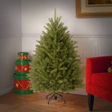 Fir 45 Hinged Green Artificial Christmas Tree And Stand