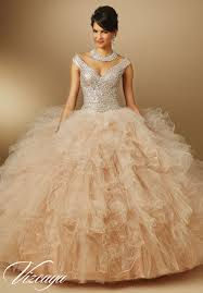 quinceanera dresses by vizcaya ruffled tulle with beading matching