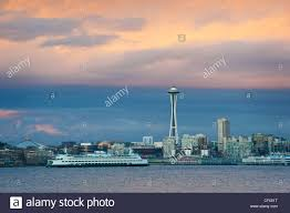 100 Beautiful Seattle Pictures A Beautiful Skyline Sunset Along The Elliott Bay Waterfront