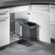 poubelle de cuisine coulissante monobac poubelle encastrable hailo 3632 10 20 litres acheter
