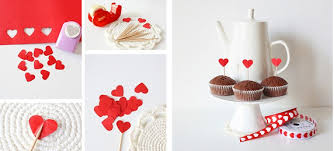 Homemade Valentines Day Gifts For Him Cupcakes Sticks Red Paper Hearts
